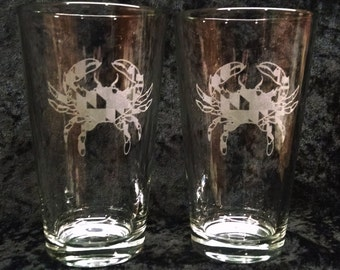 Maryland Crab Beer Pints (2, 4, 6 or 8)