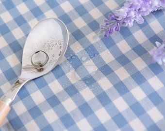 Laminated Cotton Fabric 1 cm Plaid Sky By The Yard