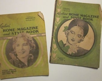 Two Ladies' Home Magazine and Style Books, Spring,1934 and Spring,1936.