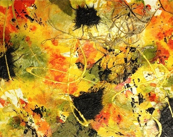 "Small Mixed Media - Micro-Fall Series - ready-to-frame - 11"" x 14"""
