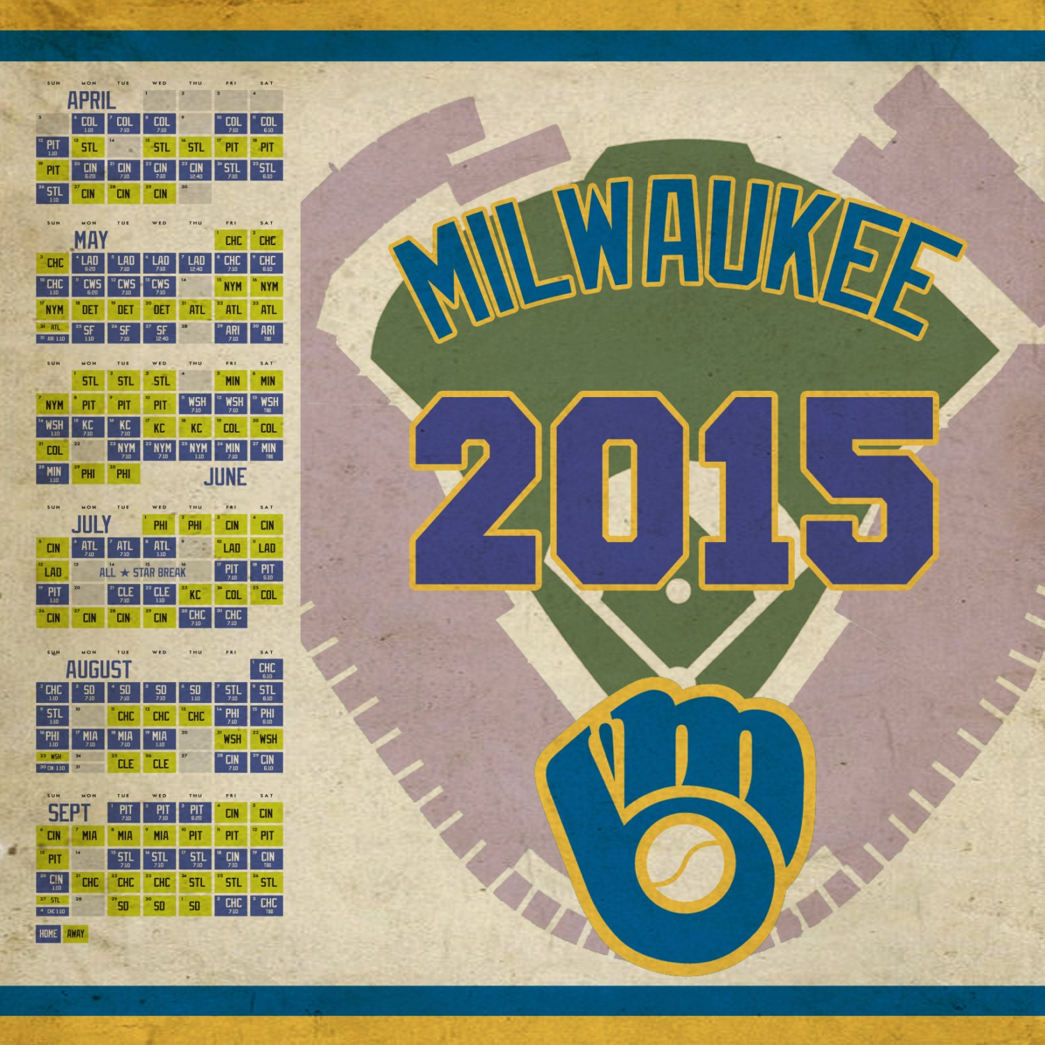 This is a picture of Eloquent Printable Brewers Schedule