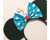 Vintage Minnie Inspired Mouse Ears - with polka dot bow