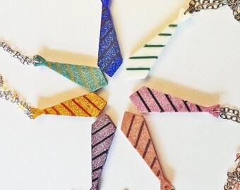 CUSTOM Necktie  Resin Necklace