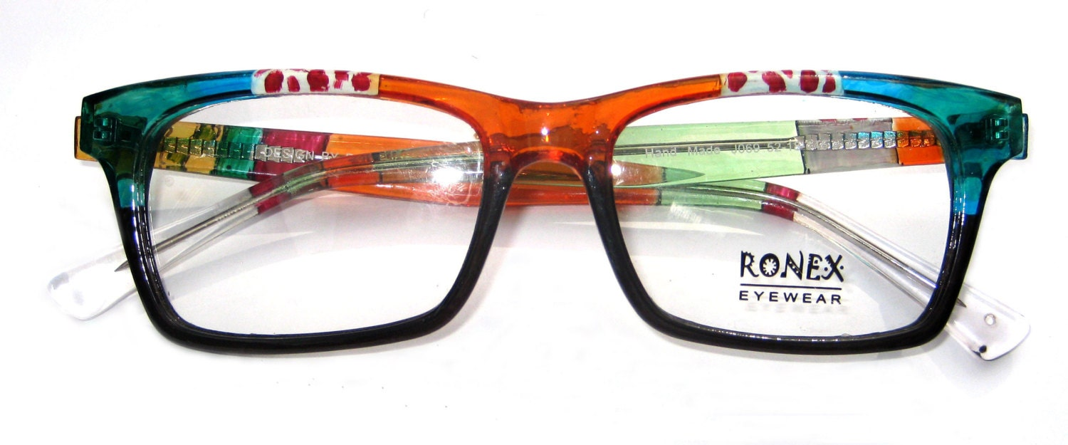 Hand Painted RONEX eyeglasses frame. Model 069 Colorful ...