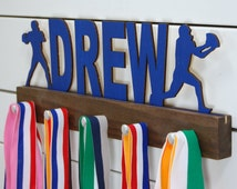 Personalized Football Medal Display - 12 or 20 inch