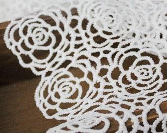 rose lace Fabric-120CM*1yard,White Lace Fabric White, Rayon Lace , wedding lace fabric