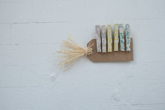 Floral Clothespins