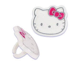 Hello Kitty Cupcake Ring Topper - 6/Pack - Hello Kitty, Party, Pink