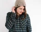 Chunky Slouchy Hat Beanie Nuetral Tan Color