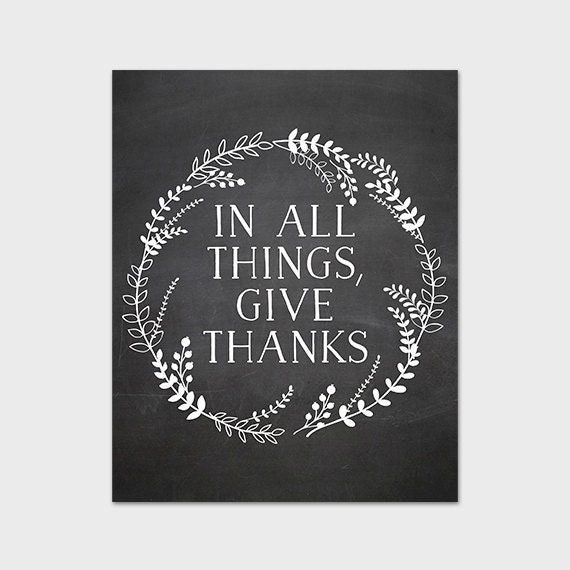 In All Things Give Thanks 8x10 Printable Art Print