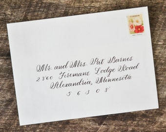 Calligrapher Hand Calligraphy Address Wedding Envelope