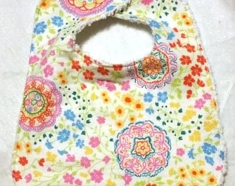 Flannel and Chenille Bib
