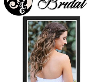 Dark Brown Honey Balayage Clip In Hair Extensions Bridal Collection