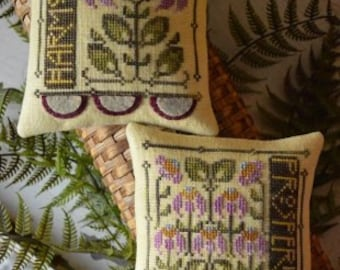 Garden Duet by Hands on Design, 3rd in the Penny Pillow Series