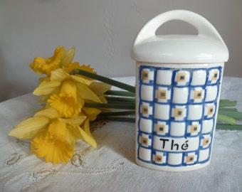 Ditmar Urbach Czeckoslovakian pottery container for Tea