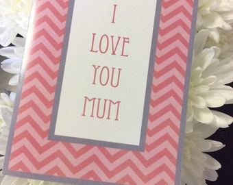 Chevron Mother's Day Card