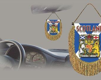 Scotland rear view mirror world flag car banner pennant