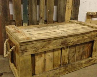 Blanket Box, Toy Box, Chest, Trunk, Ottoman, Storage with rope handles