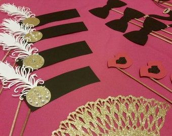 Great gatsby photo props, gatsby props, gatsby bridal party, great gatsby  props