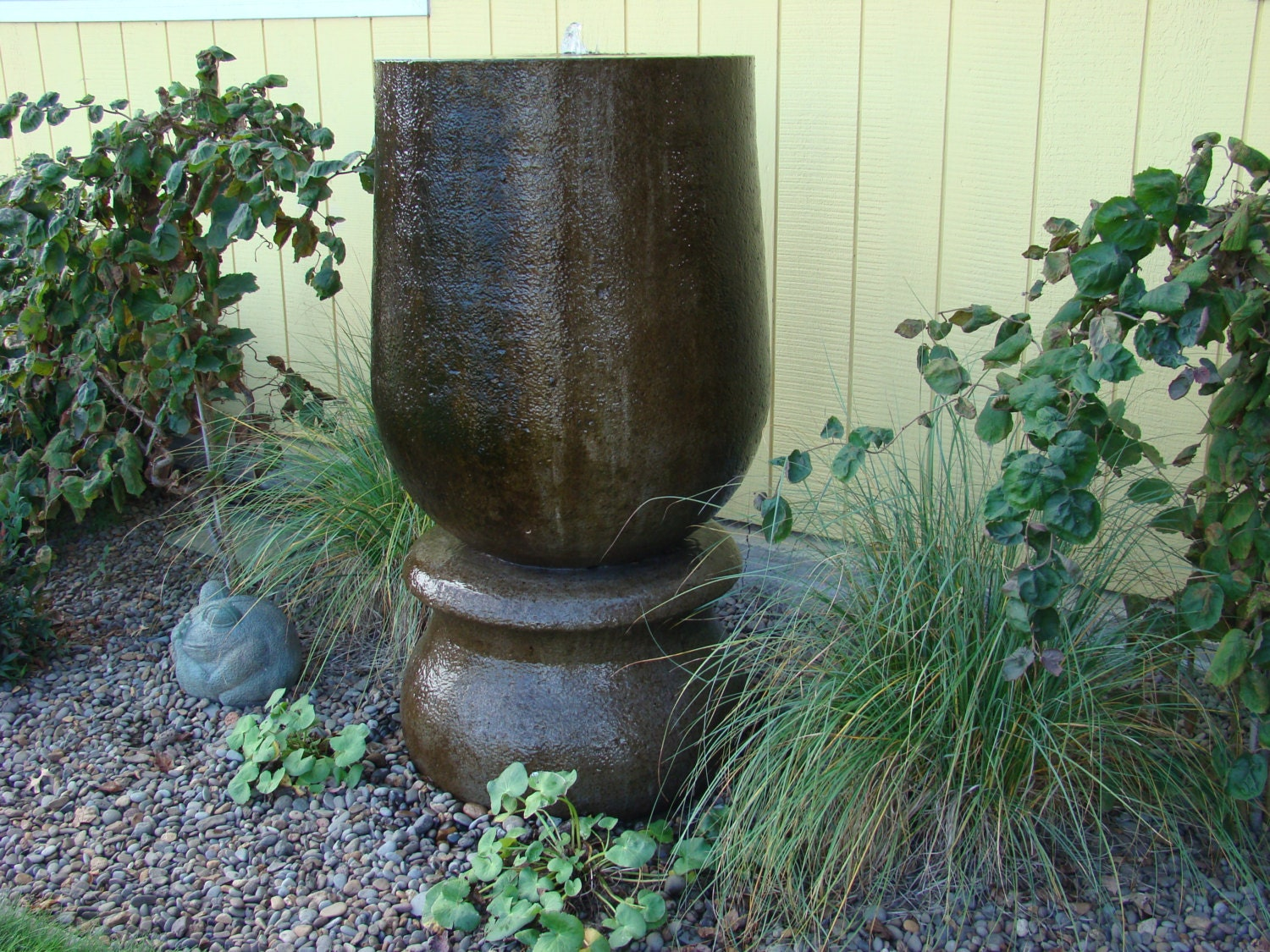 Hand Carved Cement : Beautiful hand carved concrete fountain on by