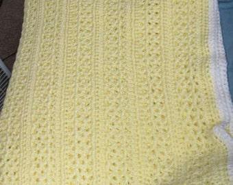 Crochet lacy afghan, crochet throw, crochet blanket, handmade blanket, afghan blanket, crochet lap blanket, crochet baby blanket