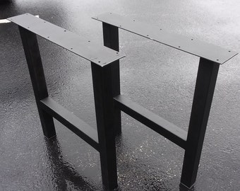 Metal Bench Legs, H-Frame Style - Any Size/Color