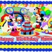 Personalized MICKEY MOUSE CLUBHOUSE Edible image cake topper 1/4 sheet, 1/2 sheet, cupcakes, custom sizes, Birthday Party, Minnie, Goofy,