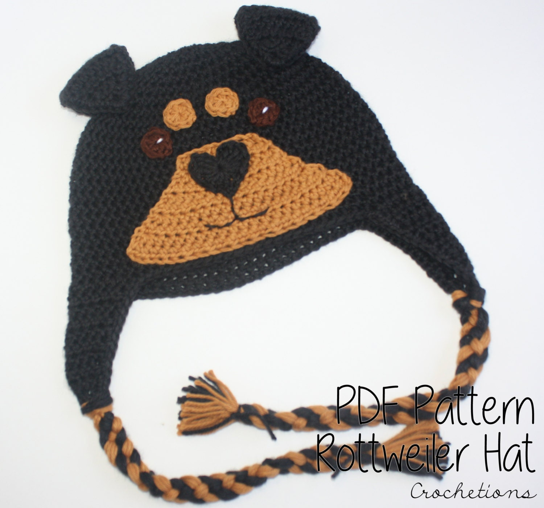Crochet pattern rottweiler hat dog breed beanie puppy zoom bankloansurffo Gallery