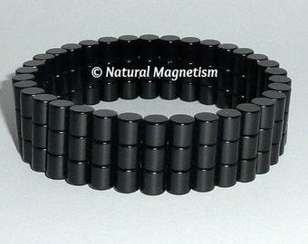 6mm Black Triple Neodymium Magnetic Bracelet