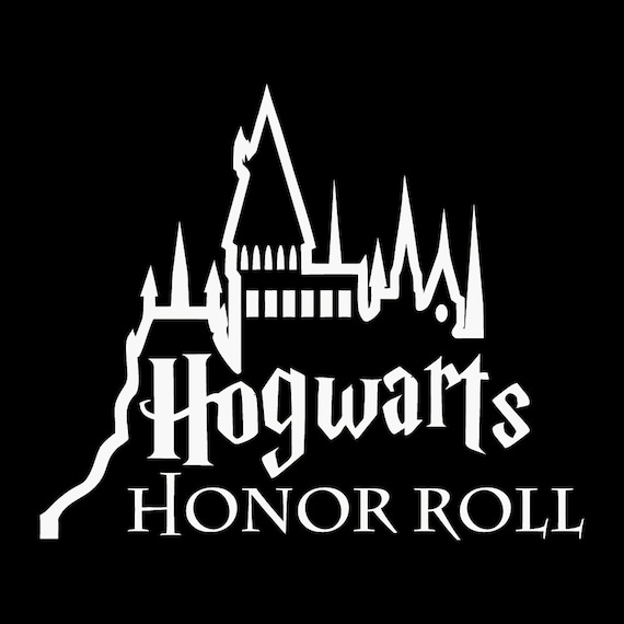 Hogwarts honor roll decal sticker by vaultvinylgraphics on etsy - Hogwarts decal ...
