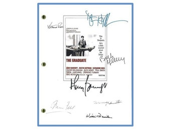 The Graduate Movie Script Signed Screenplay Autographed: Dustin Hoffman, Anne Bancroft, Katharine Ross, William Daniels