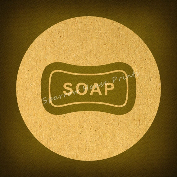 Antique Bar of Soap Vintage Artwork Bathroom Soap Print Wall Art in ...