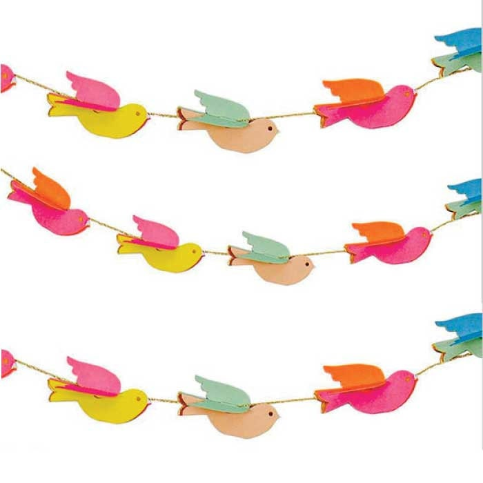 Pretty birdies mini garland decoration by meri by crankycakesshop