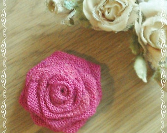 Burlap Roses -  Burlap Flowers - Fuschia Burlap Flowers - Table Decoration - Wedding Decoration - Cake Topper - Bouquet Rose - Set of 20