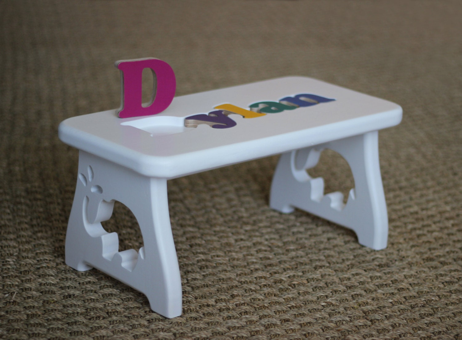Name Puzzle Stool Elephant Puzzle Step Stool First