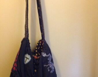 Vintage Handmade Tote Bag