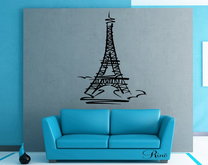 Eiffel tower tour Eiffel Wall art Decal vinyl sticker home decor France paris