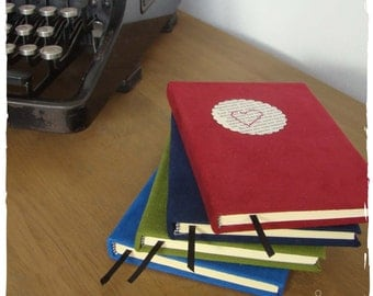 Suedine notebook with cover