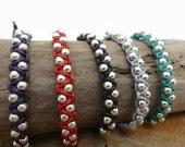 Colourful Double Beaded Macrame Bracelet \ Adjustable Bracelet