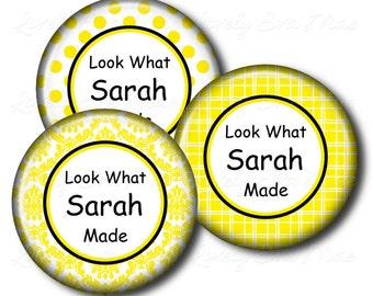 Set of 3, Child's Artwork Magnet, Children's Art Magnet, Kid's, Personalized Magnet, Display, Refrigerator Fridge, Yellow, Gift for Mom