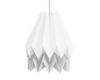 Origami Lamp, Paper Lamp, Pendant Light for living room or bedroom | Polar White with Light Grey Stripe | Orikomi | FREE SHIPPING*