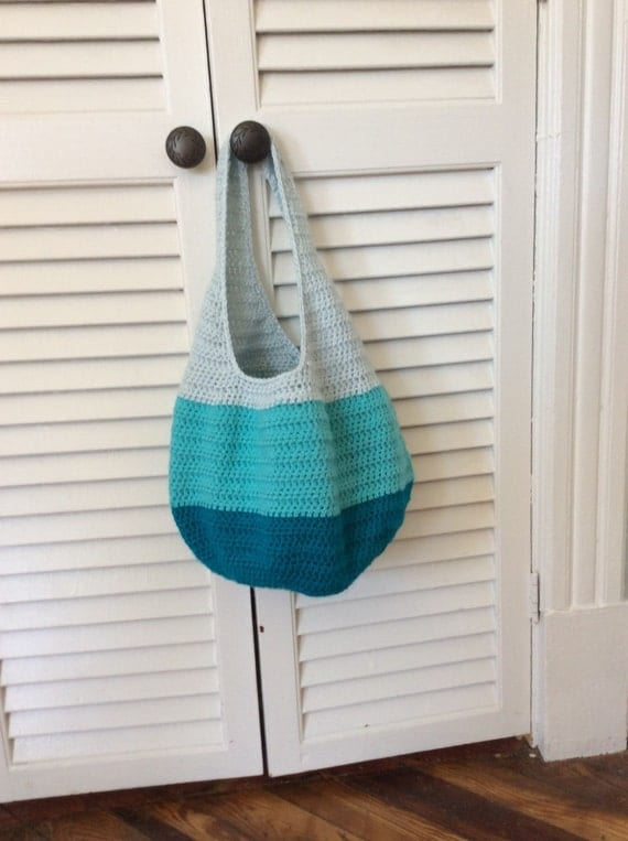Ombré market bag- crocheted bag