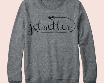 Jetsetter - Sweatshirt, Crew Neck, Graphic