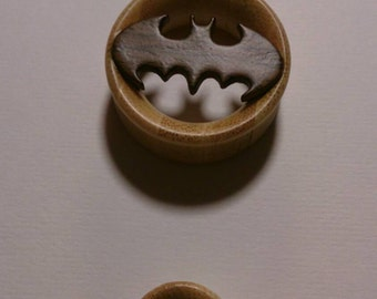 BATMAN gauges plugs made out of hard bamboo wood sizes are in MM 12, 14, 16, 18, 20, 22, 24, 26, 28MM BB