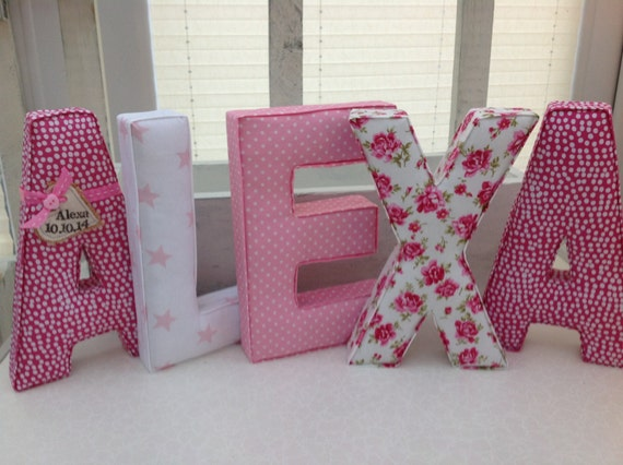 fabric covered letters freestanding letters nursery decoration