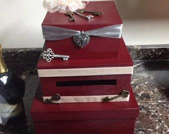 Lock and Key Wedding Card Box