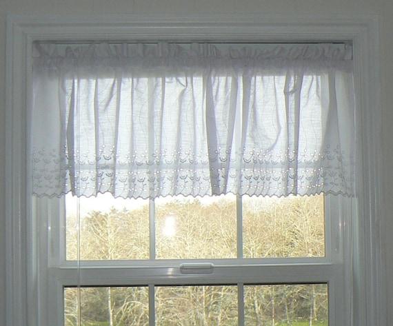 White Eyelet Lace Curtains