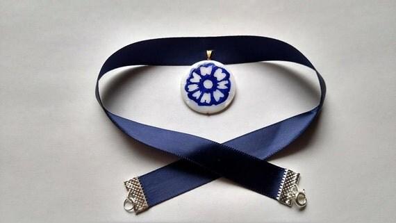 white lotus inspired betrothal necklace