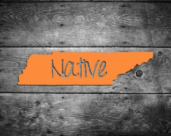 Tennessee Native Vinyl Sticker Car Window Door Bumper Decal Pride Home TN