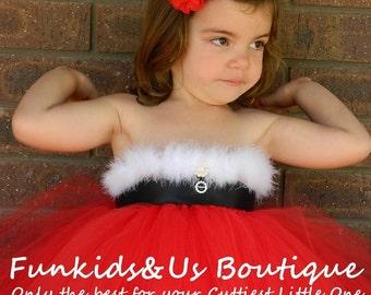 Santa Claus Tutu Dress, Christmas, Photo Prop., Birthday, Gift,Christmas Red Tutu Dress